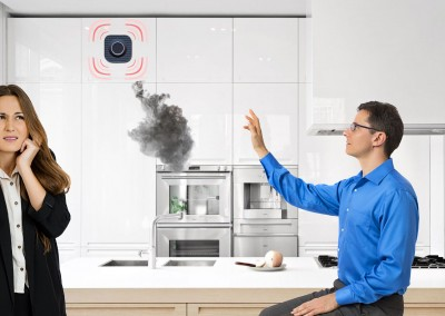 With Elliptic Labs EASY IoT, you can deactivate a smoke alarm with just a wave of your hand